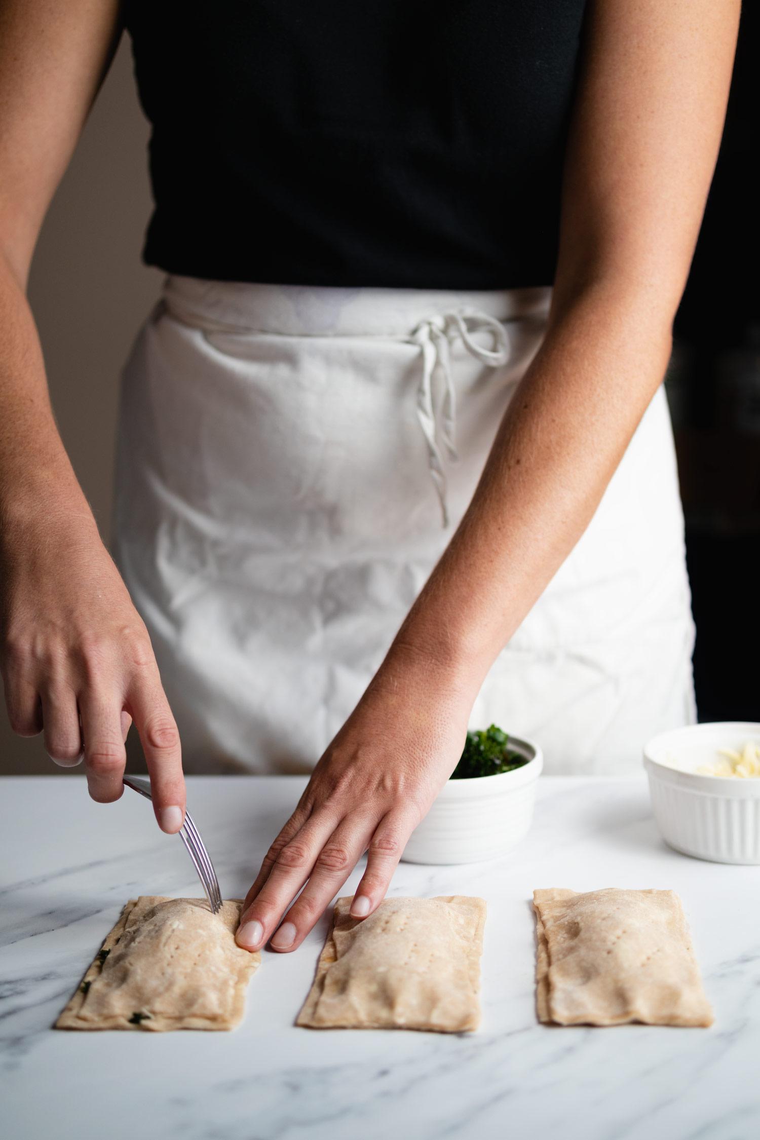 making homemade savory poptarts